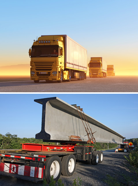 Transport and vehicle freight forwarding